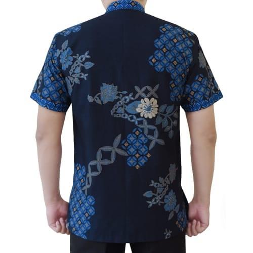 Gambar Kemeja Batik Koko Biru