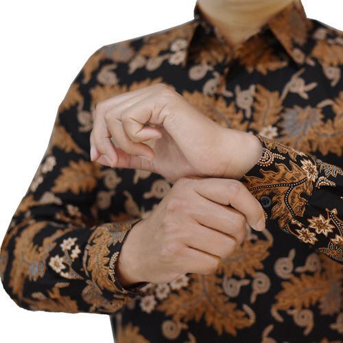 Images Kemeja Batik Coklat Klasik