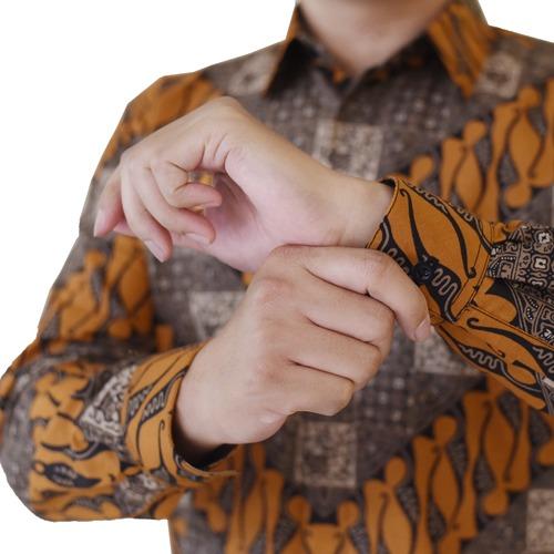 Images Kemeja Batik Pria Lereng Parang