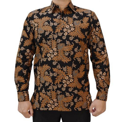 Kemeja Batik Coklat Klasik