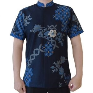 Kemeja Batik Koko Biru