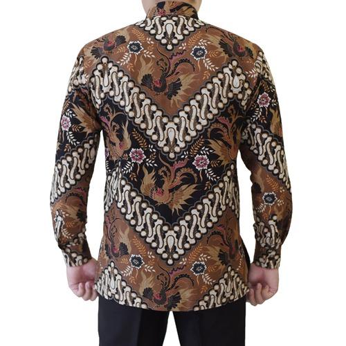 Gambar Kemeja Batik Katun Motif Coklat Klasik