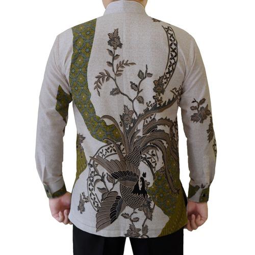 Gambar Kemeja Batik Katun Motif Hijau