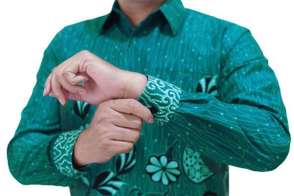 Images Kemeja Batik Katun Hijau