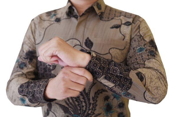 Images Kemeja Batik Katun Motif Coklat