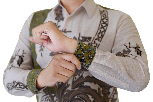 Images Kemeja Batik Katun Motif Hijau