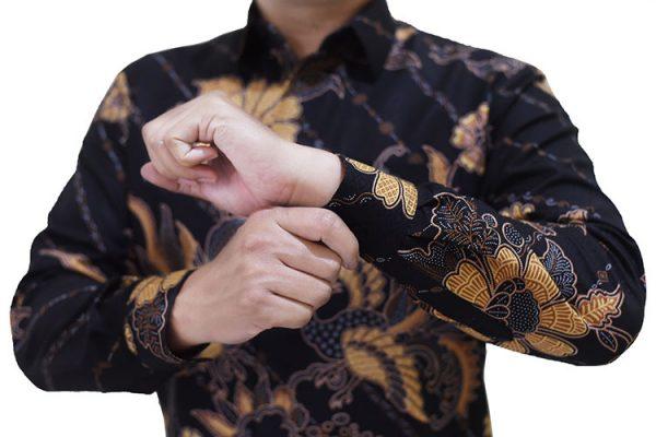 Images Kemeja Batik Semi Sutra Modern