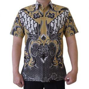 Kemeja Batik Klasik Elegan Lengan Pendek