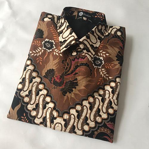 Pictures Kemeja Batik Katun Motif Coklat Klasik