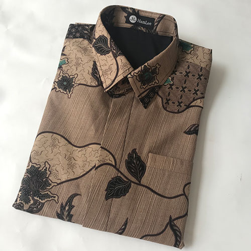 Pictures Kemeja Batik Katun Motif Coklat