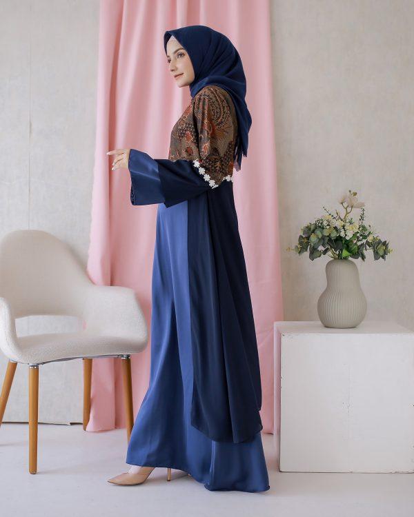 Dress Batik Hanlee Biru 3