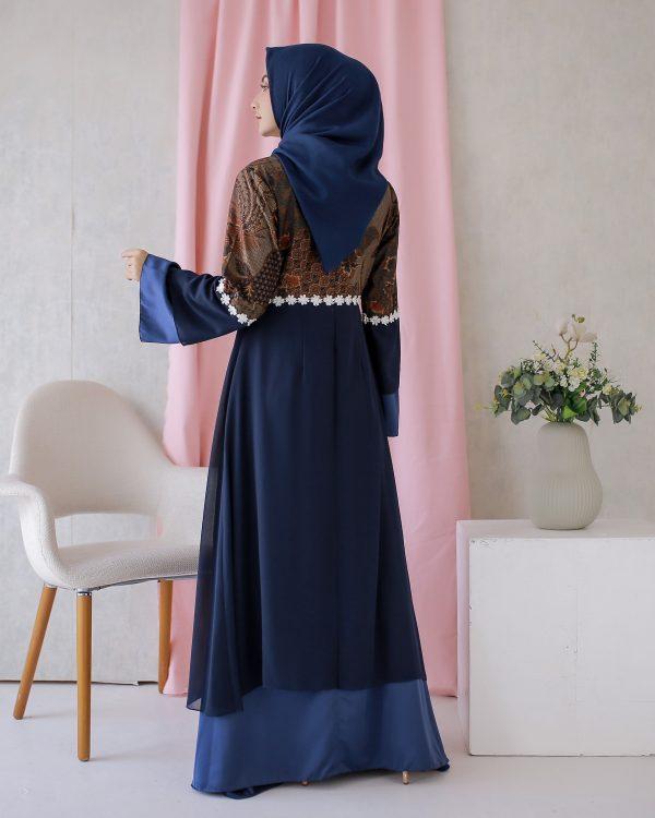 Dress Batik Hanlee Biru 4